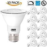 par can led lights - Sunco Lighting 10 PACK - PAR20 LED 7 WATT (50W Equivalent), 3000K Warm White, DIMMABLE- Indoor/Outdoor Lighting, 470 Lumens, Flood Light Bulb- UL LISTED