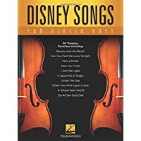 Disney Songs For Violin Duet -For 2 Violins- (Book): Songbook für Violine