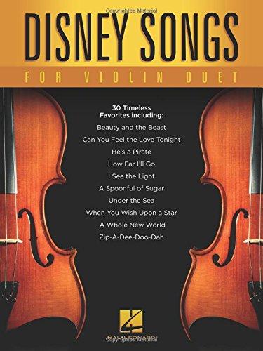 Disney Songs for Violin Duet Duets Violin