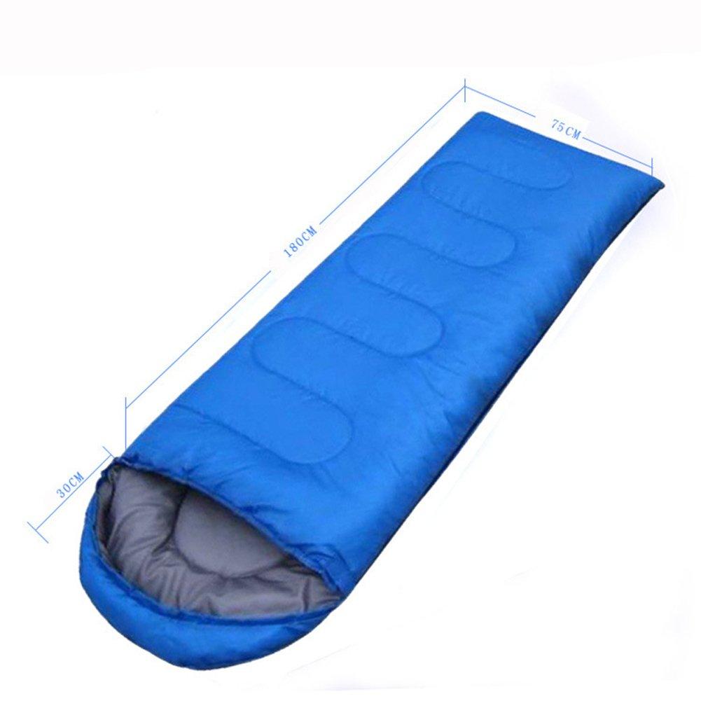 Seasofbeauty saco de dormir caliente adulto bolsas de vivac Camping Exterior Sleeping Bag, azul: Amazon.es: Deportes y aire libre