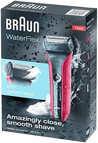 Braun WaterFlex WF2 - Afeitadora eléctrica Wet & Dry, color rojo ...
