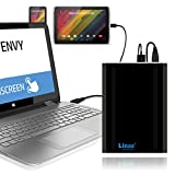 Lizone Extra Pro 40000mAh Portable External Battery Charger for HP Pavilion 14 15 17 X2 x360 Split x2 Slatebook HP Envy 14 15 17 Envy x2 Spectre x360, Chromebook, Streambook, Laptop Power Bank。