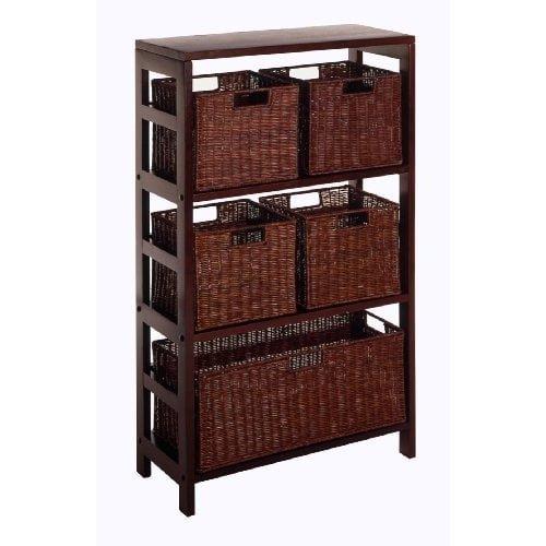 Luxury Home Leo 6-piece Shelf and Baskets by Luxury Home (Image #1)
