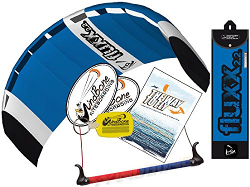 HQ Fluxx 2.2M Trainer Kite TR plus Kiteboarding DVD Bundle (4 items) Includes 'The Way To Fly' Beginner Kitesurfing Instructional DVD + WindBone Kite Lifestyle Decals + WindBone Key Chain : Foil Power by HQ Power Kites, PASA, WindBone