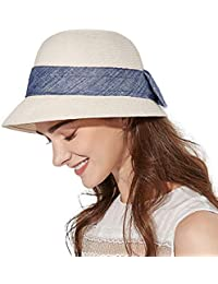 ad9ed2d2d8fcc1 Womens UPF 50 Straw Sun Hat Floppy Wide Brim Fashion Beach Accessories  Packable & Adjustable