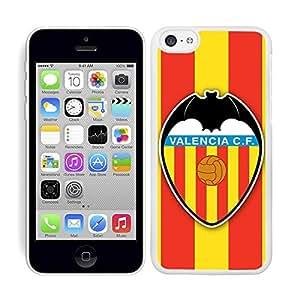 Funda carcasa para Apple iPhone 5C fútbol escudo Valencia borde blanco