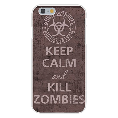 Apple iPhone 6 Custom Case White Plastic Snap On - Keep Calm and Kill Zombies Outbreak Response Team -