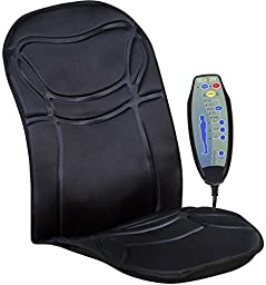 Relaxzen 60-2926 6-Motor Massage Seat Cushion with Heat