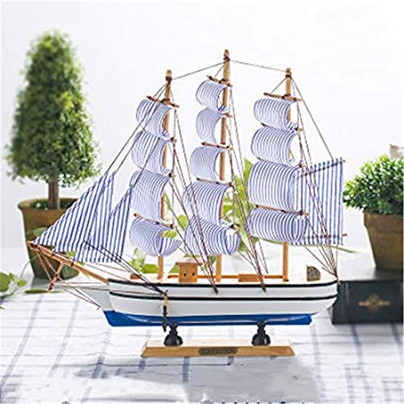 BaiXing Adornos para veleros de Madera Maciza vinoteca Decoraciones Accesorios para el hogar velero velero Modelo de velero