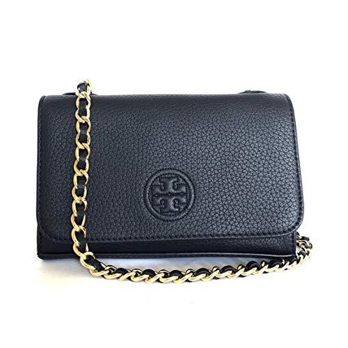 - Tory Burch Bombe Shrunken Shoulder Bag Small Women's Handbag (Black)