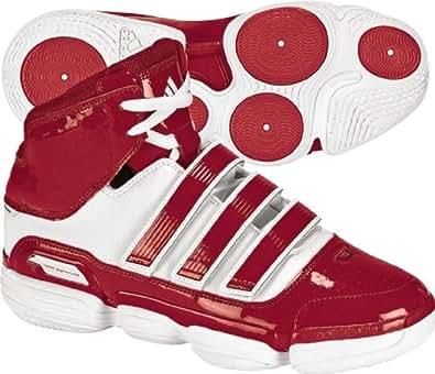 adidas Men's TS Supernatural Commander Basketball Shoe,Running White/University Red/Metallic Silver,17 M US
