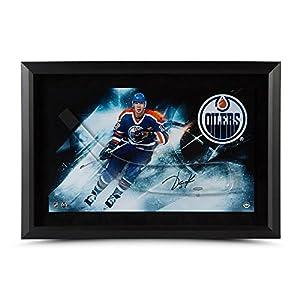 JARI KURRI Autographed Stick Blad with Edmonton Oilers Framed Picture UDA
