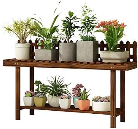 植物スタンド フラワースタンド植物スタンド木製屋内直立フラワーディスプレイラック屋外レトロフラワーシェルフ(サイズ:82CM) フラワースタンド (Size : 82CM)