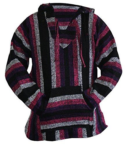 Purple baja hoodie