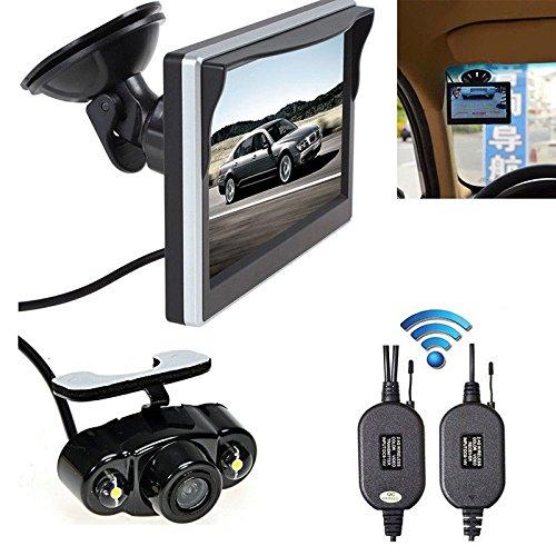 """5"""" Wireless TFT-LCD Car Rear View Monitor Reverse Backup Camera Night Vision Kit"""