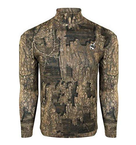 Drake Waterfowl Ol Tom Performance Mock Neck - Realtree Timber (Large)