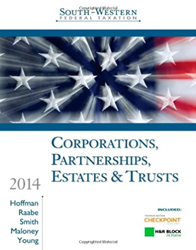 south western federal taxation 2014 corporations partnerships rh amazon com Federal Taxation Book Federal Taxation Book