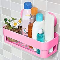 Techsun Universal Suction Cup Organizer/Storage / Shampoo Holder, Toothbrush, Razor, Sponge, Bathroom/Kitchen Basket/Toiletry / Shelf, Multi