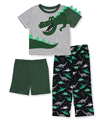 Dinosaur Sleepwear (Carter's Baby Boys' 3 Piece Dinosaur Jersey PJS 5T)