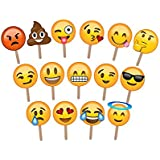 ASVP Shop® 15 Emoji Photo Props Wedding Photography Photo Booth Party
