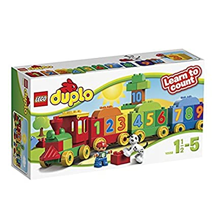 Buy Lego Duplo Number Train, Multi Color Online at Low Prices in ...