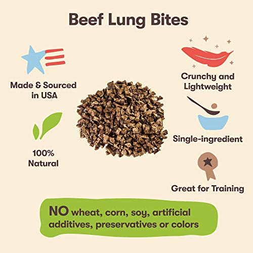 Pet 'n Shape Beef Lung Dog Treats - Made and Sourced in The USA - All Natural Healthy Treat