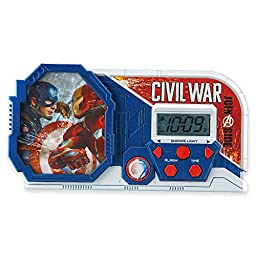 Marvel Captain America Civil War Alarm Clock/Sleep Timer with Night Light