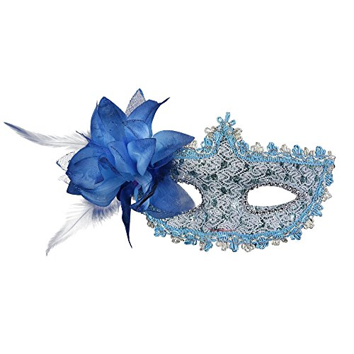 (Rehot Masquerade Party Masks Womens Masks Venetian Ball Prom Mardi Gras Halloween Masks (Blue)