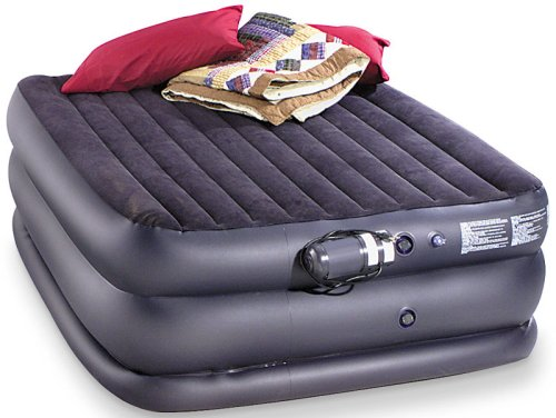 Queen-sized Rising Comfort Air Bed Navy, Outdoor Stuffs