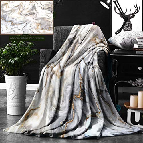 Ralahome Unique Custom Digital Print Flannel Blankets Marble Decor Marble Ink Texture Background Pattern Can Used Wallpaper Skin Super Soft Blanketry Bed Couch, Throw Blanket 70 x 50 Inches