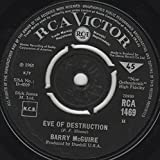 Bobby McGuire RCA Victor England Press 45 & Stock Sleeve - Eve Of Destruction / What Exactly Is The Matter With Me - 1965