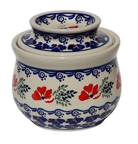 Polish Pottery French Butter Dish From Zaklady Ceramiczne Boleslawiec #1512-1115 Classic Pattern