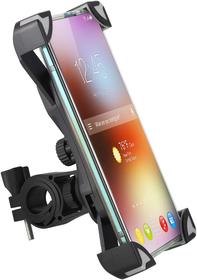 tiopeia Bike Phone Holder, 360° Rotation Anti-Shake Bike Phone Mount Compatible with All Smart Phone Between 3.5 and 6.5 inches : Sports & Outdoors
