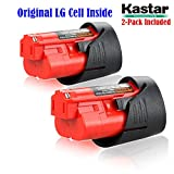 Kastar M12 Rechargeable Battery (2-Pack), Replacement Milwaukee M12 Cordless Tool Battery, 12 Volt 1.5Ah 16Wh Red Lithium Ion Battery For Milwaukee M12 IR, M12 JS, C12 B,C12 BX, C12 D, C12 DD, C12 HZ, C12 IC, C12 ID, C12 IW, C12 PC, C12 PD, C12 PPC, C12 W