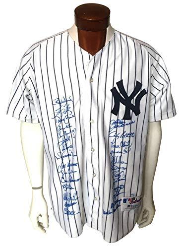 (2000 Yankees Autographed Signed Memorabilia Authentic Ws Jersey 28 Auto Derek Jeter Rivera Steiner /200 - Certified Authentic )