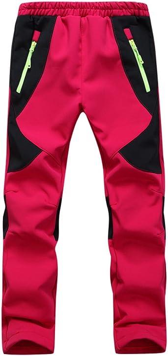 CATERTO Pantalones de Nieve para jóvenes con Rodillas reforzadas y Asiento, Pantalones de Escalada cálidos para niños y niñas