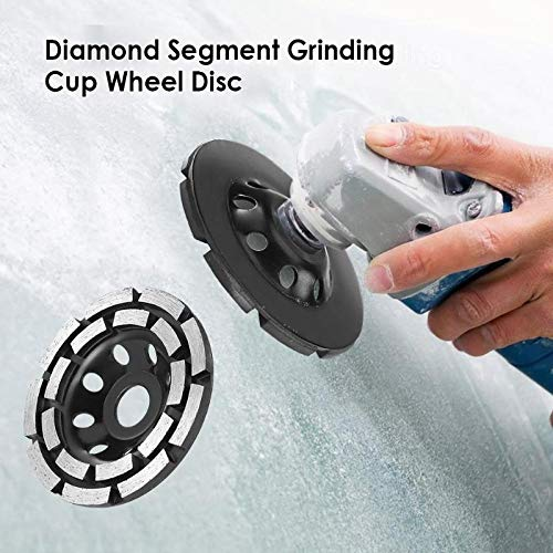 W-Shufang-wj 115/125/180mm Diamond Grinding Disc Abrasives Concrete Tools Grinder Wheel Metalworking Cutting Grinding Wheels Cup Saw Blade (Outer Diameter : 180mm) by W-Shufang-wj