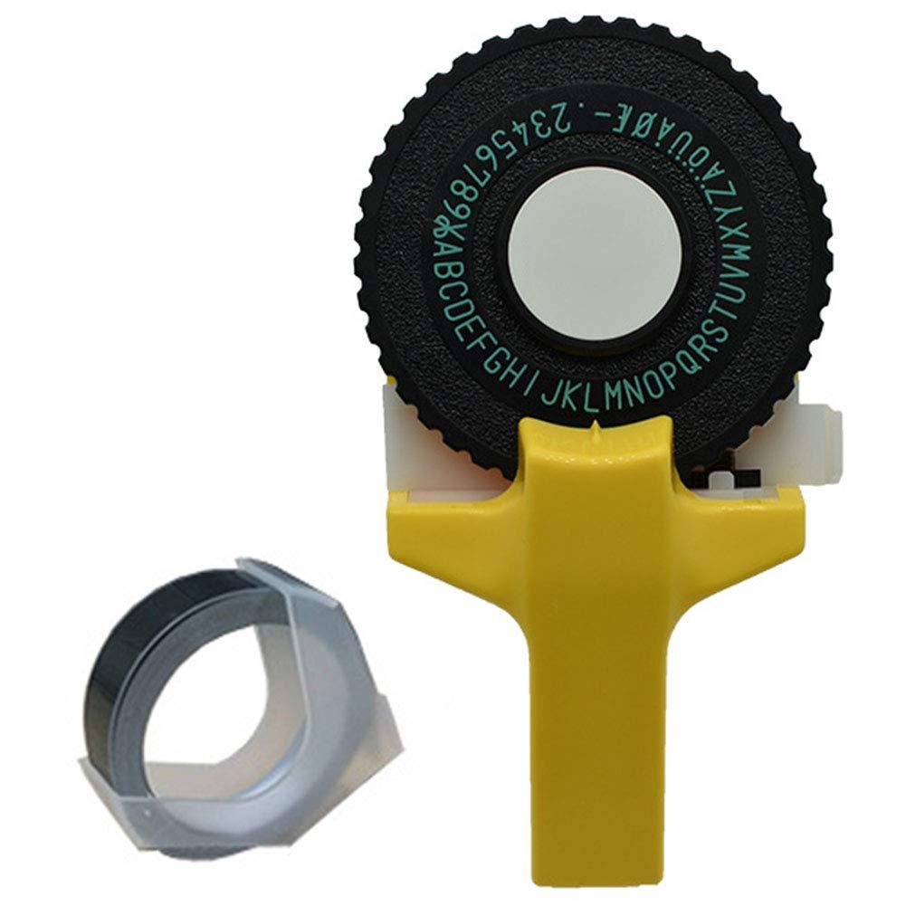 machine de gaufrage et de machine /à /écrire 3D free size rose Mini imprimante portable manuelle en plastique /à faire soi-m/ême