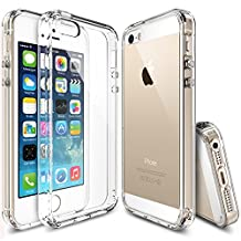Ringke [FUSION] iPhone SE Case Crystal Clear PC Back TPU Bumper [Drop Protection/Shock Absorption Technology] for Apple iPhone SE (2016) / 5S (2013) / 5 (2012) - Clear
