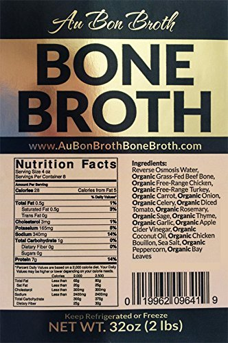 Healthy Bone Broth 2 Pack Sampler- Organic, Grassfed (Delicious Beef/Chicken/Turkey Blend) Frozen 32oz Bags, 2 Count (1 cup per day) Soup Broth Not Powder, Slow Simmered, Pasture Raised, Non-GMO
