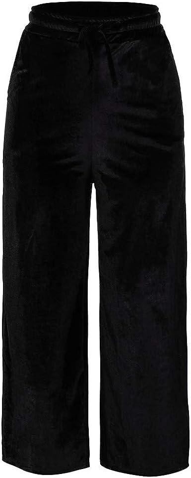 Logobeing Mujer Pantalones Largos de Vestir Cintura Alta Pierna ...