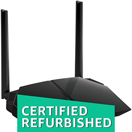 (Renewed) Netgear R6080-100INS AC1000 Dual-Band Wi-Fi Router (Black) Routers (Computers & Accessories) at amazon