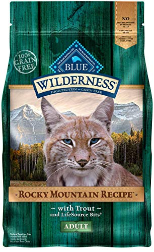 Blue Buffalo Wilderness Rocky Mountain Recipe High Protein Grain Free, Natural Adult Dry Cat Food, Trout ()