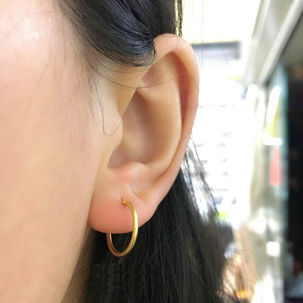 50983207ff646 Fashion Sleeper Cartilage Tiny Small Hoop Earrings 925 Sterling ...