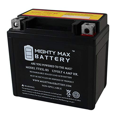 Mighty Max Battery YTX5L-BS Battery Replacement for YUASA Battery YTX5L-BS Brand Product