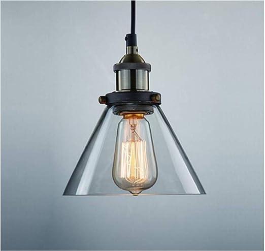 Lámpara de techo de cristal colgante vintage para bombillas ...