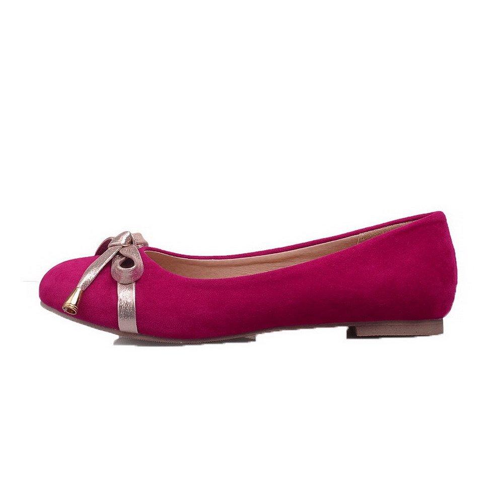 AgooLar Femme Fermeture d'orteil Tire à Talon Bas Chaussures Légeres, GMBDA060869 Cramoisi