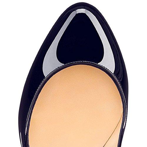 MERUMOTE - Zapatos de Plataforma mujer Blue-Patent