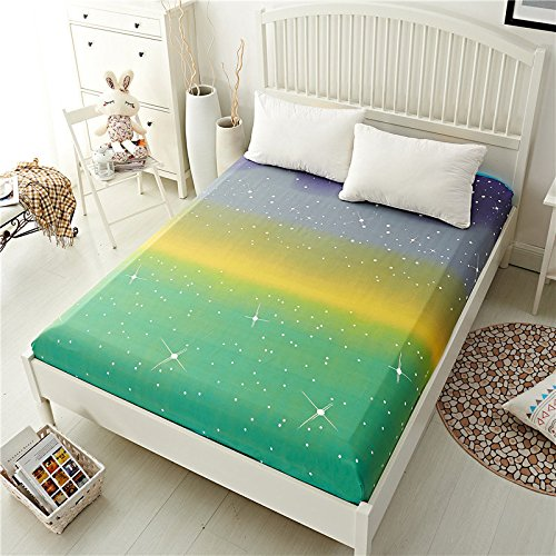 Linen Paper Bonk Shroud - Polyester Fashionable Fitted Elastic Bedsheet Mattress Cover Bedding Linen Bed Sheet - Eff Canvass Bang Plane Jazz Flat Solid Lie Seam Sail Bottom - 1PCs by Unknown (Image #4)