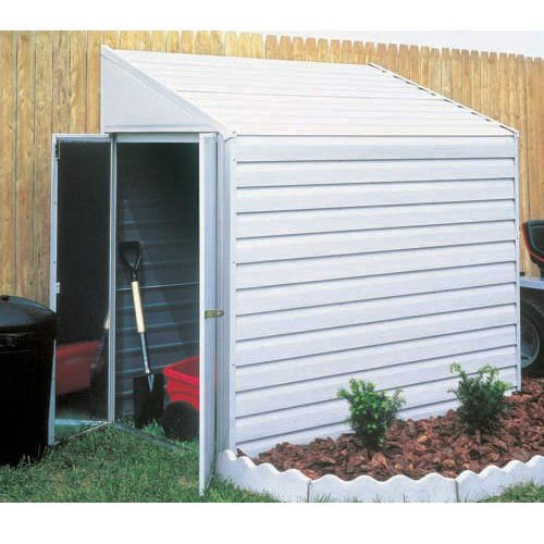 Arrow Yardsaver Slope Roof Shed Heavy Duty Galvanized Steel Storage Shed, 4 ft x 7 ft - Slope Roof